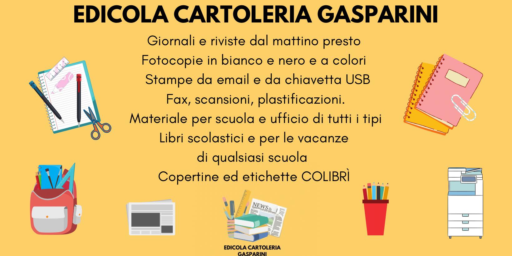 header image Edicola Cartoleria Gasparini